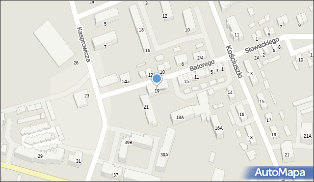 Olecko, Stefana Batorego, 19, mapa Olecko