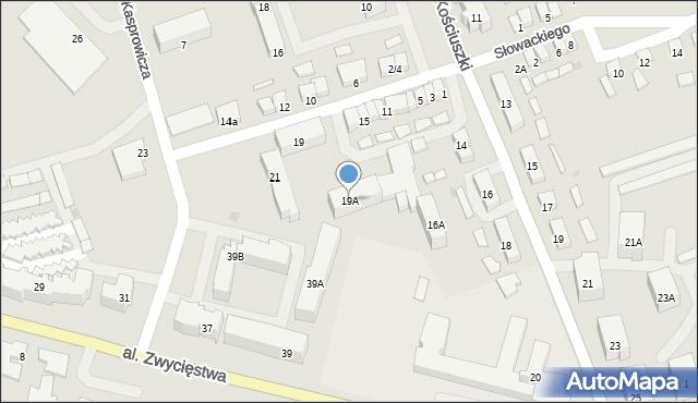 Olecko, Stefana Batorego, 19A, mapa Olecko