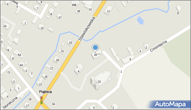 Piątnica Poduchowna, Stawiskowska, 10, mapa Piątnica Poduchowna