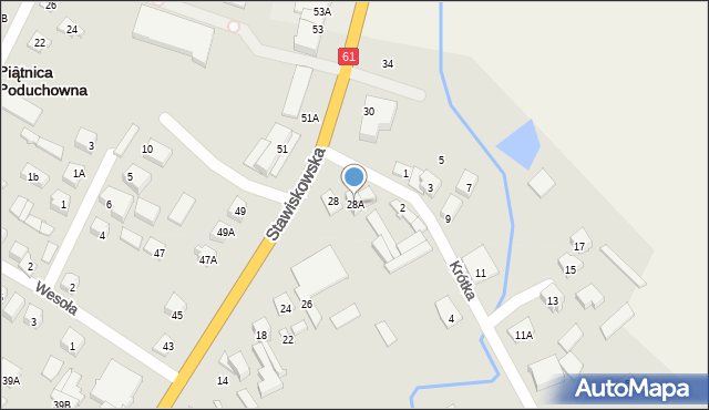 Piątnica Poduchowna, Stawiskowska, 28A, mapa Piątnica Poduchowna