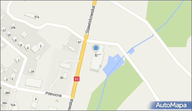 Piątnica Poduchowna, Stawiskowska, 32, mapa Piątnica Poduchowna