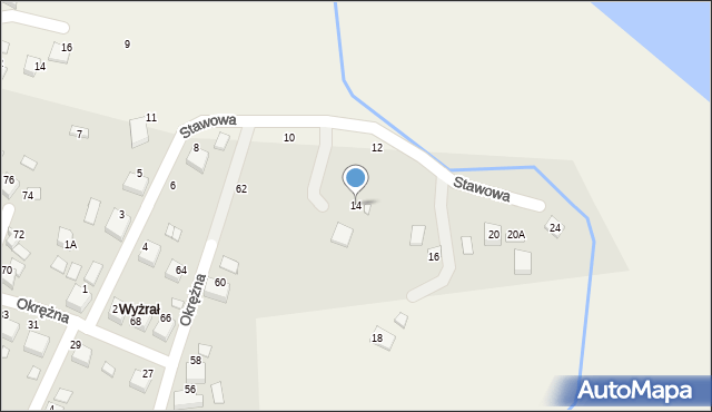 Przeciszów, Stawowa, 14, mapa Przeciszów