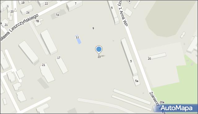 Przemyśl, Stanisława Leszczyńskiego, 13, mapa Przemyśla