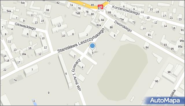 Przemyśl, Stanisława Leszczyńskiego, 3, mapa Przemyśla