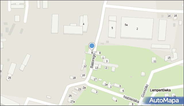 Przemyśl, Stefana Batorego, 6, mapa Przemyśla
