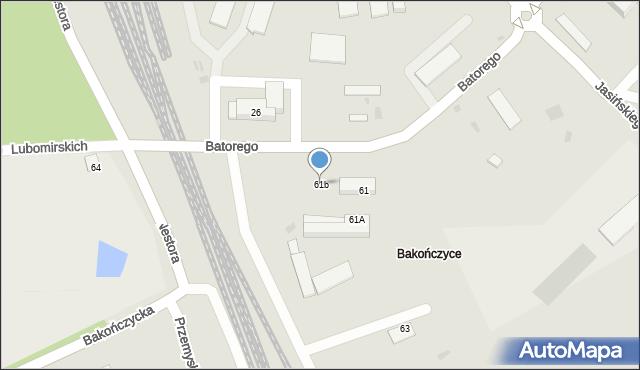 Przemyśl, Stefana Batorego, 61b, mapa Przemyśla