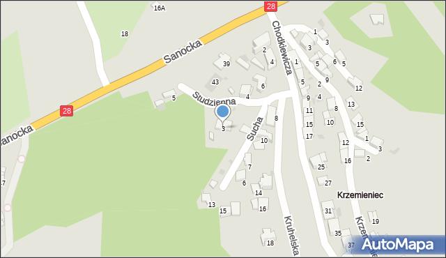 Przemyśl, Studzienna, 3, mapa Przemyśla