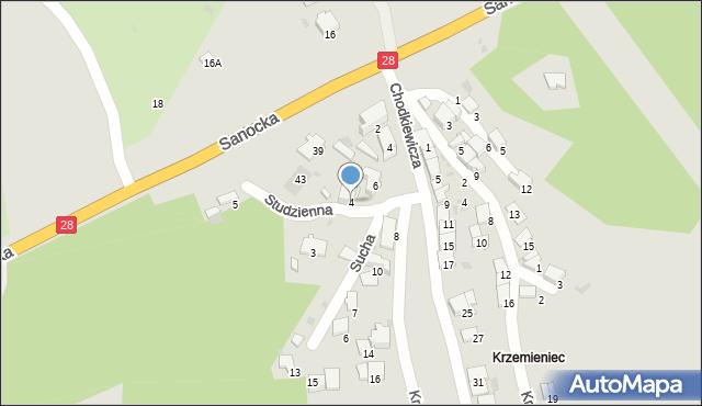 Przemyśl, Studzienna, 4, mapa Przemyśla