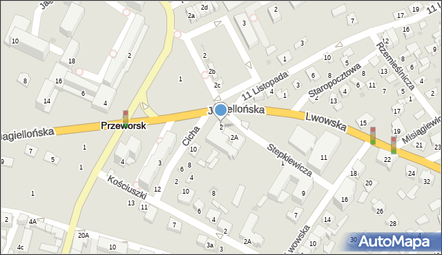 Przeworsk, Stepkiewicza Pawła, 2, mapa Przeworsk