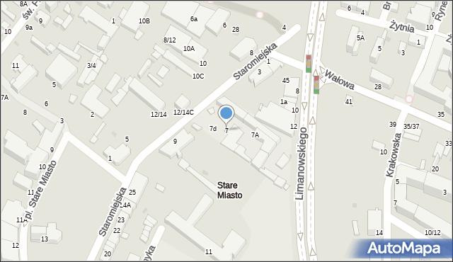 Radom, Staromiejska, 7, mapa Radomia