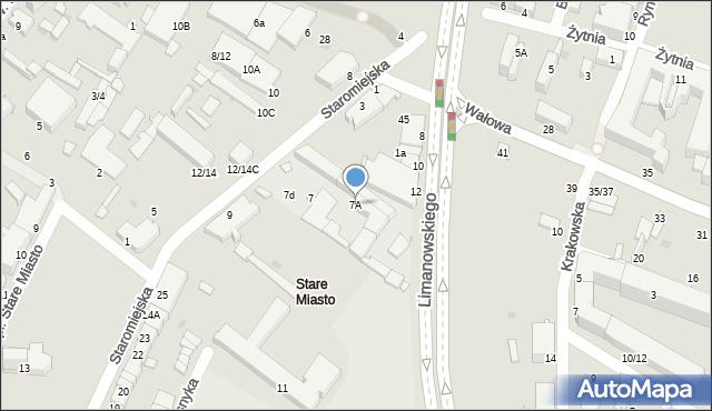 Radom, Staromiejska, 7A, mapa Radomia
