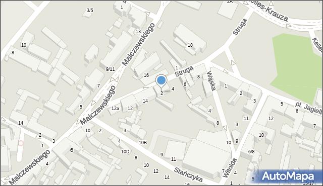 Radom, Struga Andrzeja, 2, mapa Radomia