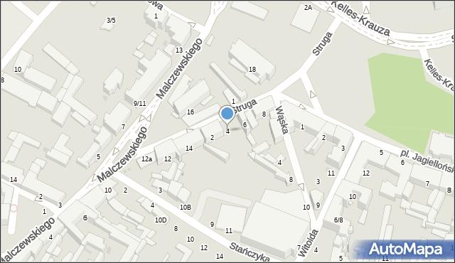 Radom, Struga Andrzeja, 4, mapa Radomia