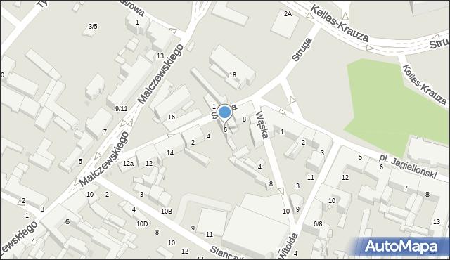 Radom, Struga Andrzeja, 6, mapa Radomia