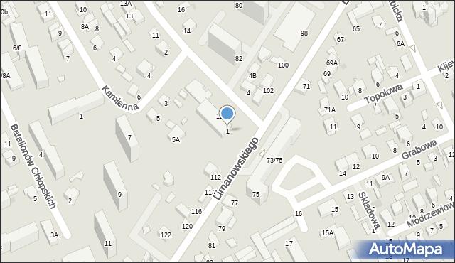 Radom, Stasieckiego Eugeniusza, kpt. hm., 1, mapa Radomia