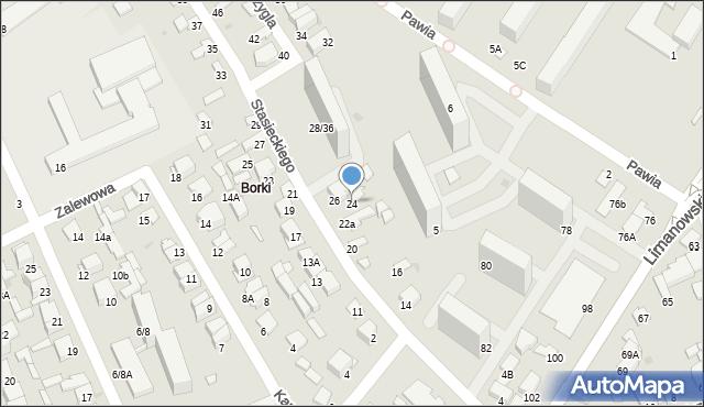 Radom, Stasieckiego Eugeniusza, kpt. hm., 24, mapa Radomia