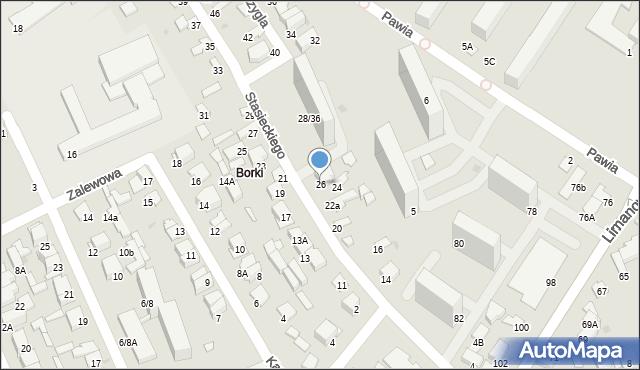 Radom, Stasieckiego Eugeniusza, kpt. hm., 26, mapa Radomia