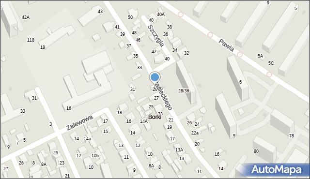 Radom, Stasieckiego Eugeniusza, kpt. hm., 29, mapa Radomia