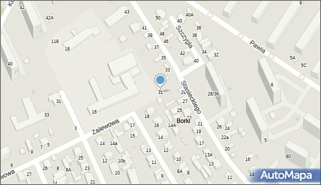 Radom, Stasieckiego Eugeniusza, kpt. hm., 31, mapa Radomia