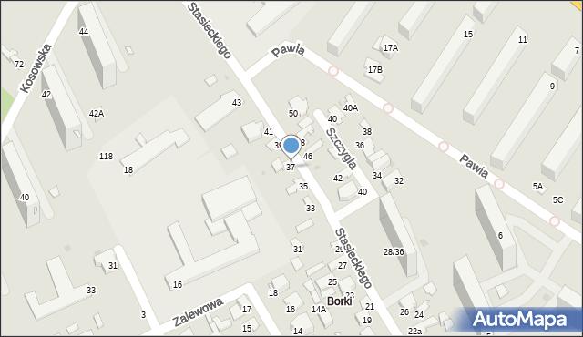 Radom, Stasieckiego Eugeniusza, kpt. hm., 37, mapa Radomia