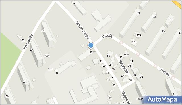Radom, Stasieckiego Eugeniusza, kpt. hm., 43, mapa Radomia