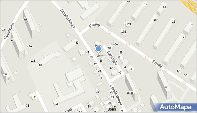Radom, Stasieckiego Eugeniusza, kpt. hm., 48, mapa Radomia