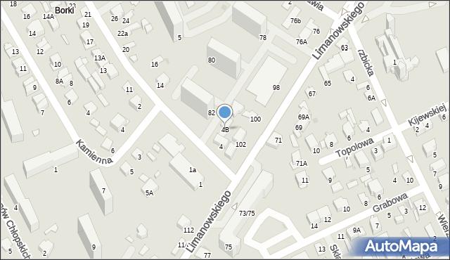 Radom, Stasieckiego Eugeniusza, kpt. hm., 4B, mapa Radomia