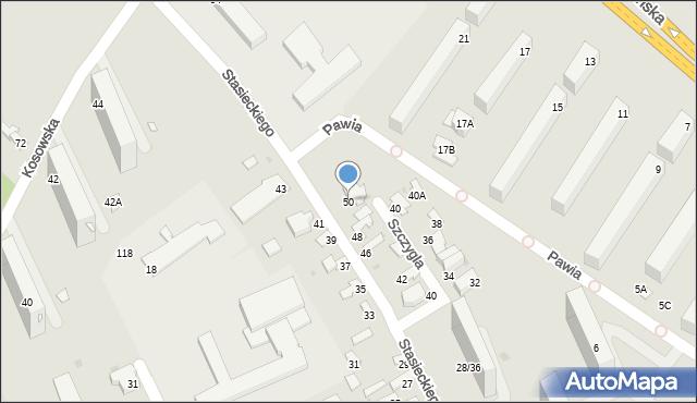 Radom, Stasieckiego Eugeniusza, kpt. hm., 50, mapa Radomia
