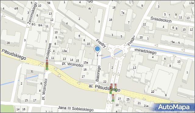 Rzeszów, Stefana Batorego, 7, mapa Rzeszów