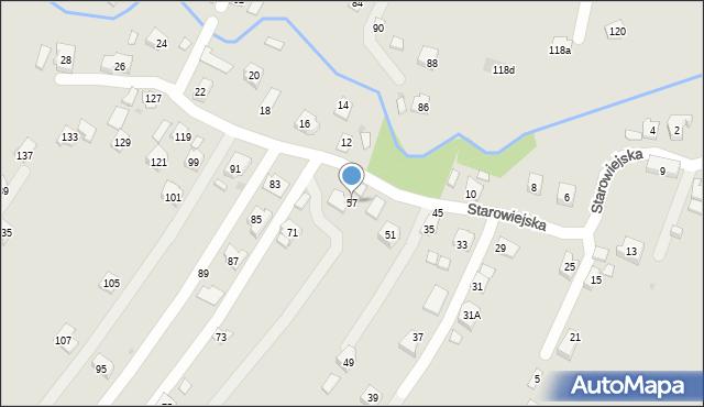 Rzeszów, Starowiejska, 57, mapa Rzeszów