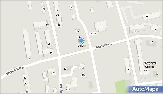 Rzeszów, Strzelnicza, 14c/15, mapa Rzeszów