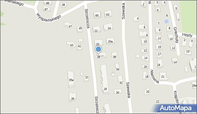 Rzeszów, Strzelnicza, 18, mapa Rzeszów