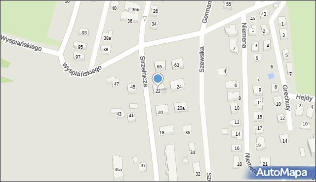 Rzeszów, Strzelnicza, 22, mapa Rzeszów