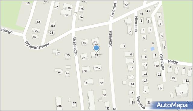 Rzeszów, Strzelnicza, 24, mapa Rzeszów