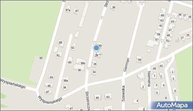 Rzeszów, Strzelnicza, 28, mapa Rzeszów