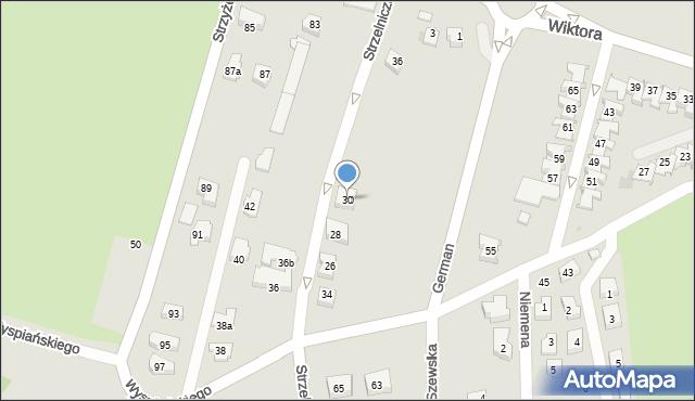 Rzeszów, Strzelnicza, 30, mapa Rzeszów