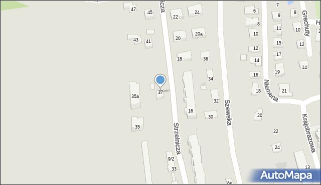 Rzeszów, Strzelnicza, 37, mapa Rzeszów