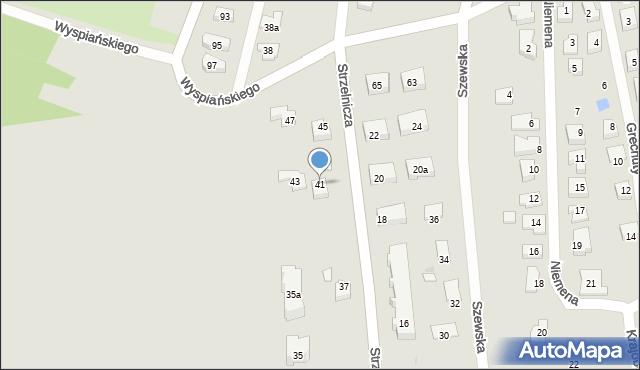 Rzeszów, Strzelnicza, 41, mapa Rzeszów