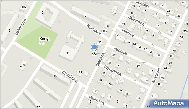 Rzeszów, Stwosza Wita, 33a, mapa Rzeszów
