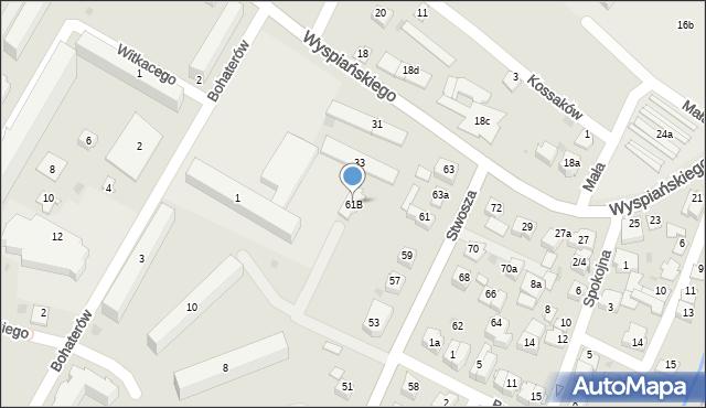 Rzeszów, Stwosza Wita, 61B, mapa Rzeszów