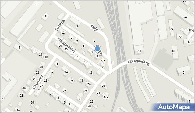 Rzeszów, Staffa Leopolda, 1, mapa Rzeszów