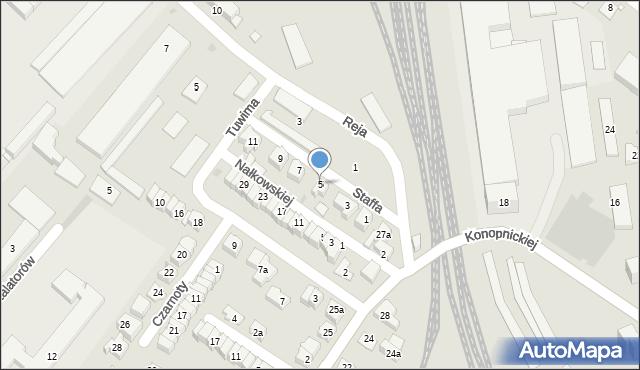 Rzeszów, Staffa Leopolda, 5, mapa Rzeszów
