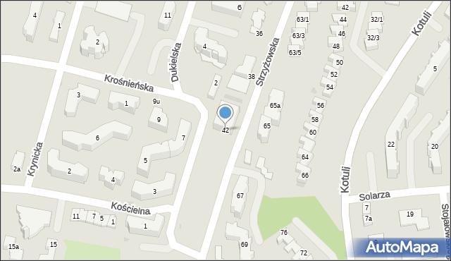 Rzeszów, Strzyżowska, 42, mapa Rzeszów