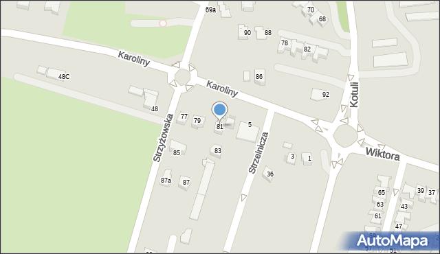 Rzeszów, Strzyżowska, 81, mapa Rzeszów