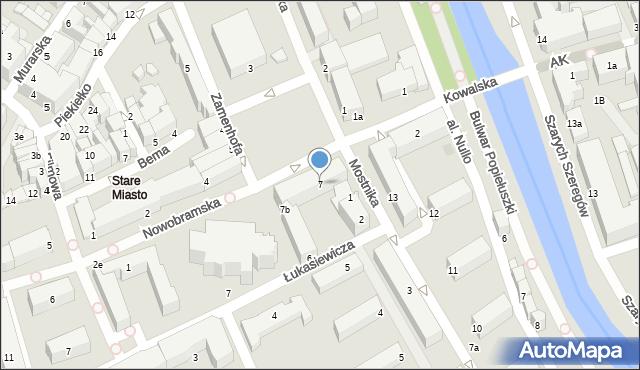 Słupsk, Stary Rynek, 7, mapa Słupska