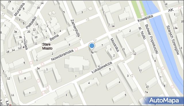 Słupsk, Stary Rynek, 7b, mapa Słupska