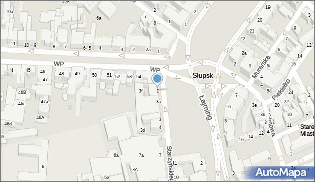 Słupsk, Starzyńskiego Stefana, 2, mapa Słupska