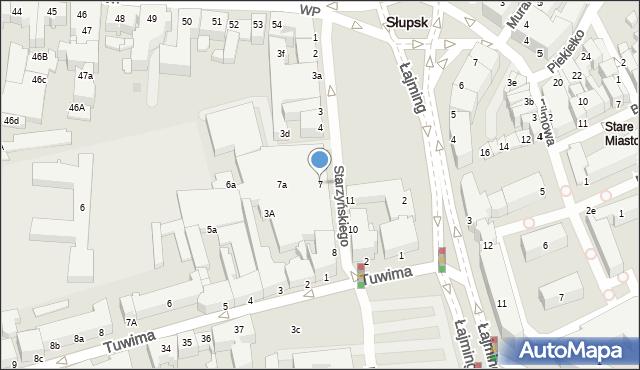 Słupsk, Starzyńskiego Stefana, 7, mapa Słupska