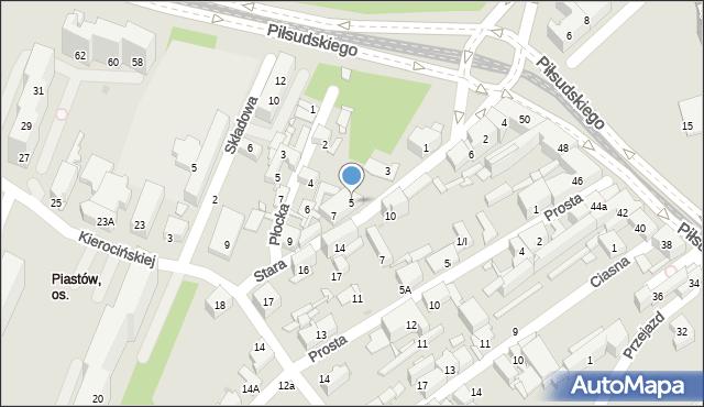 Sosnowiec, Stara, 5, mapa Sosnowca