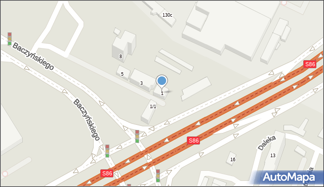 Sosnowiec, Stalowa, 1, mapa Sosnowca